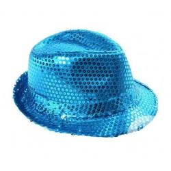 Chapeau Borsalino Sequins Turquoise