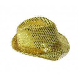 Chapeau Borsalino Sequins Or