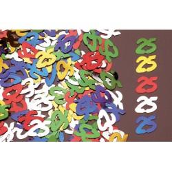 Confettis de Table Chiffre 25