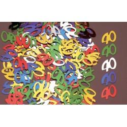 Confettis de Table Chiffre 40