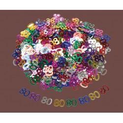 Confettis de Table Chiffre 80