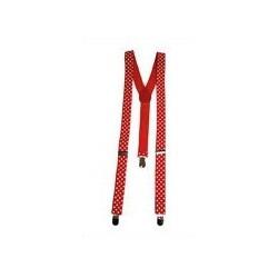 Bretelle Rétro Rouge à Pois Blanc