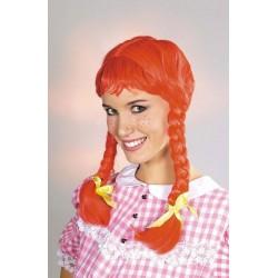 Perruque Fifi Rouge à Tresses