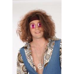 Perruque Hippie avec Bandeau