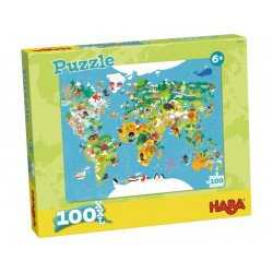 Puzzle Carte du Monde 100 Pièces - Haba