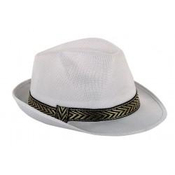 Chapeau Borsalino Blanc avec Bandeau