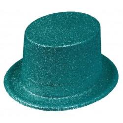 Chapeau Haut de Forme Paillette Turquoise