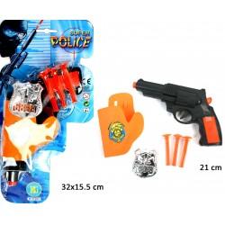 Pistolet à Flèches avec Badge et Holster