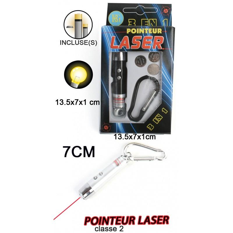 Pointeur Laser avec Lampe et Mousqueton