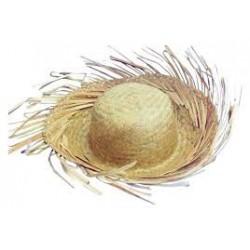 Chapeau en Paille de Jardinier avec Franges
