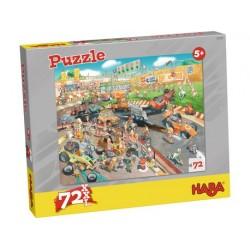 Puzzle Course Automobile 72 Pièces - Haba