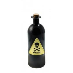 Bouteille de Poison en Verre Noir