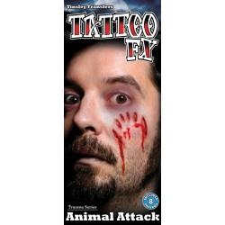 Tatouage Attaque Animale