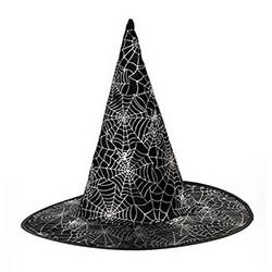 Chapeau de Sorcière Décor Toile D'Araignée