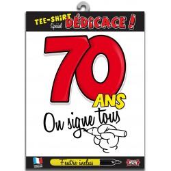 Tee Shirt On Signe Tous 70 Ans
