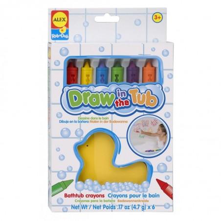 Crayon de Coloriage pour le Bain 6 Pièces