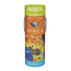 Puzzle Carte de l'Afrique 200 Pièces avec Poster - Crocodile Creek