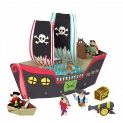 Bateau de Pirate en Carton Recyclé - Krooom