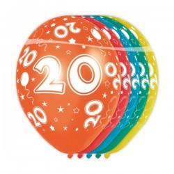 Ballon Nacré Anniversaire 20 Ans - 5 Pièces