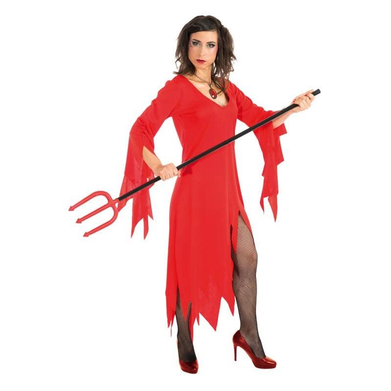 Déguisement Robe Rouge Démone Taille Unique