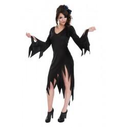 Déguisement Robe Noire Elvira Taille Unique