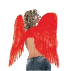 Ailes d'Ange Plumes Rouges 73 x 73 cm