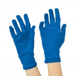 Gants Coton Bleu Court 26cm