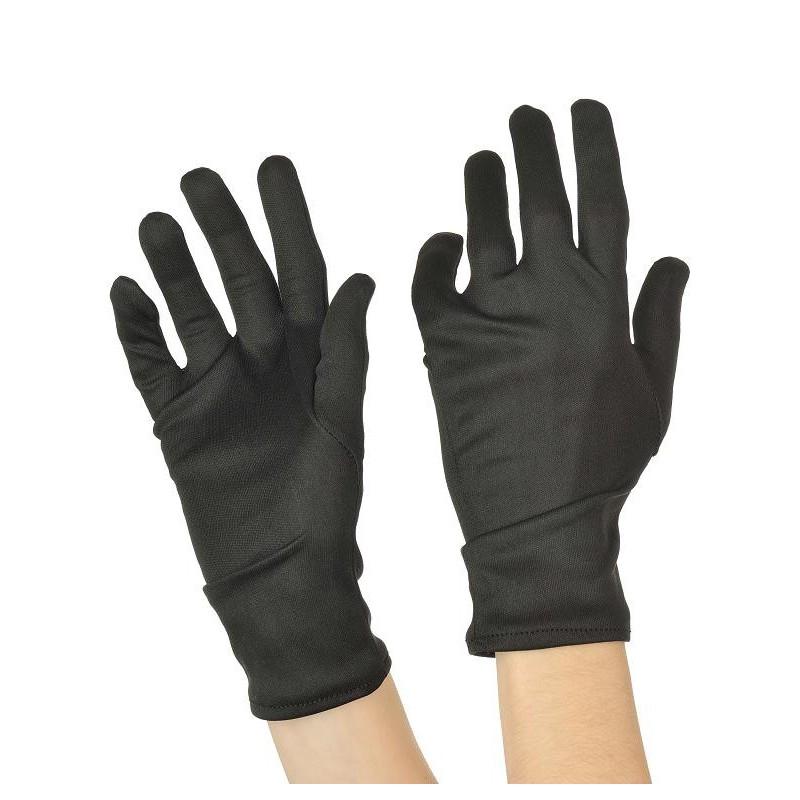 Gants Coton Noir Court 26cm