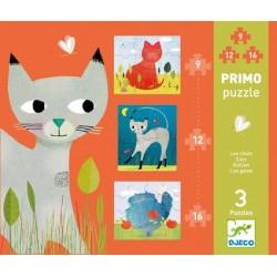 Puzzle Primo Les Chats - Djeco