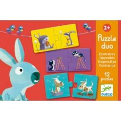 Puzzle Duo Les Contraires - Djeco
