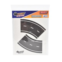 Virage pour Route Noire Repositionnable 4 Stickers, PlayTape