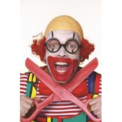 Perruque de Clown Rouge avec Calvitie