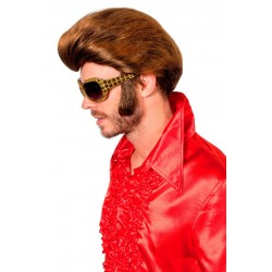 Perruque Disco Homme Chatain