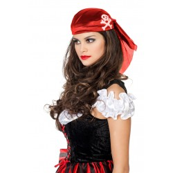 Chapeau Bandana de Pirate Rouge