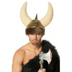 Casque de Viking en Tissu et Mousse