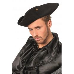 Chapeau Tricorne de Pirate Aspect Cuir Noir