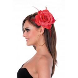 Rose Rouge Pour Cheveux