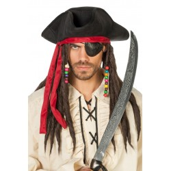 Chapeau de Pirate Jack avec Dredlocks
