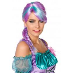 Perruque Violette Avec Longue Tresse