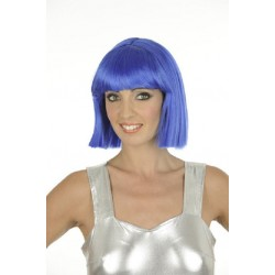 Perruque au Carré Crazy Bleue