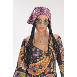 Perruque Femme Hippie avec Bandana