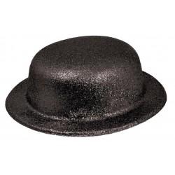 Chapeau Melon Paillette Noir