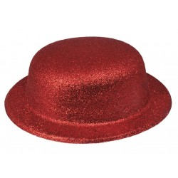 Chapeau Melon Paillette Rouge
