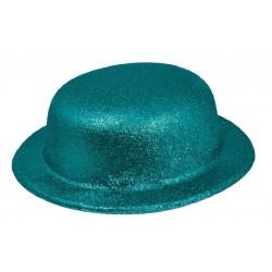 Chapeau Melon Paillette Turquoise