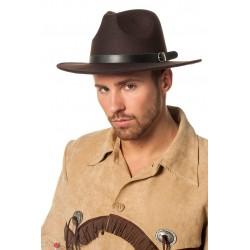 Chapeau de Cow Boy en Feutre Marron