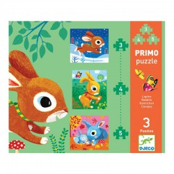 Puzzle Primo Les Lapins - Djeco