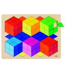 Puzzle à Encastrement Effet 3D - Goki