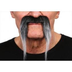 Moustache Pirate Noir Méché Blanc