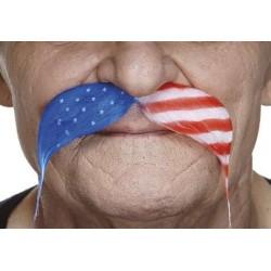 Moustache Drapeau Etats-Unis