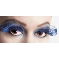 Faux Cils Extra Long Bleu et Noir